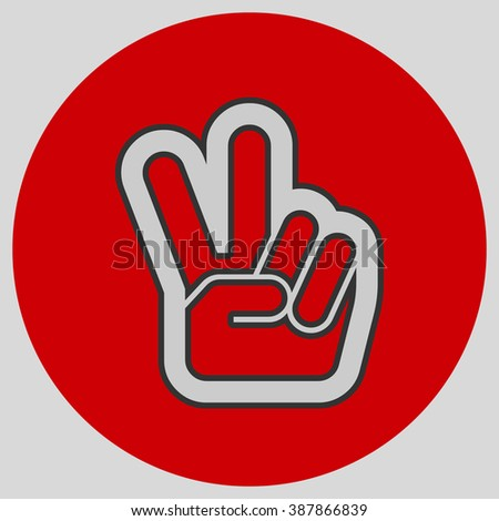 Hand Two Fingers Peace Victory Symbol Stock Vector 2018 387866839