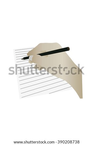Hand write pencil on the notebook vector