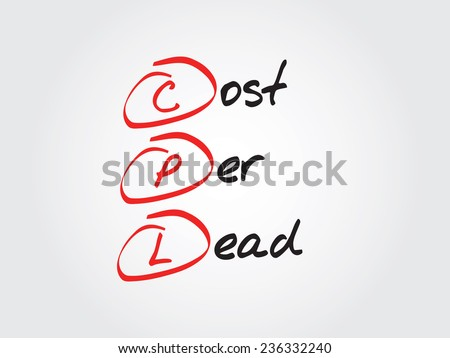 Hand writing Cost Per Lead (CPL), vector business concept acronym - stock vector