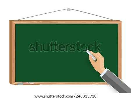 Hand writing with chalk. Vector EPS10. - stock vector