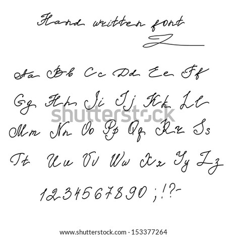 Hand Writing Letter Stock Photos, Royalty-Free Images & Vectors ...