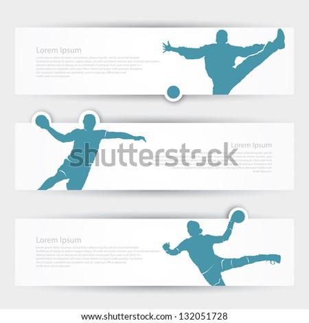 Handball headers - vector illustration - stock vector