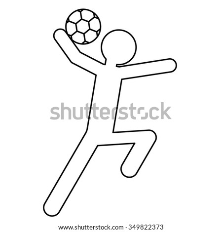 handball player symbol for download vector icon