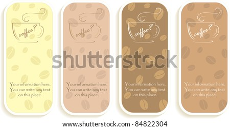 Handbills with the offer of coffee, vector illustration