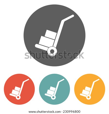 handcart icon - stock vector