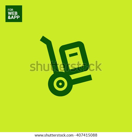 Handcart isolated minimal single flat linear icon for application and info-graphic. Delivery line vector icon for websites and mobile minimalistic flat design. - stock vector