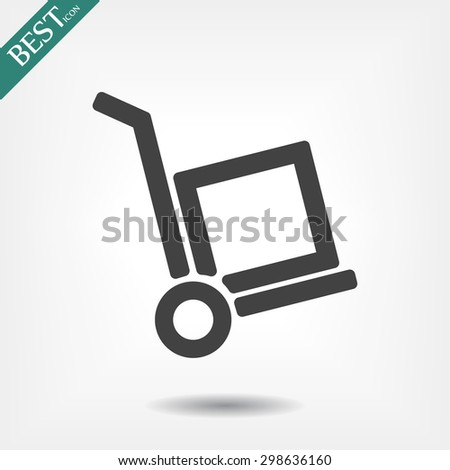 handcart . line vector icon - stock vector