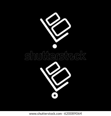 handcart vector icon handcart isolated on white background delivery icon for websites and mobile