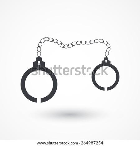 Handcuffs icon - stock vector