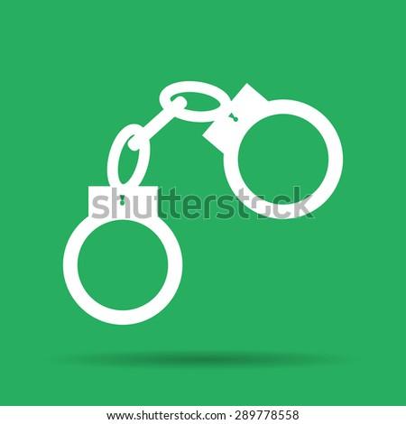 handcuffs icon. Flat vector illustrator Eps 10 - stock vector