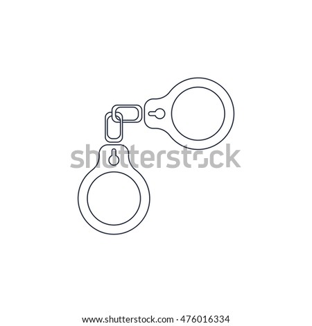 Handcuffs icon Vector Illustration Image Web Material icon  Flat