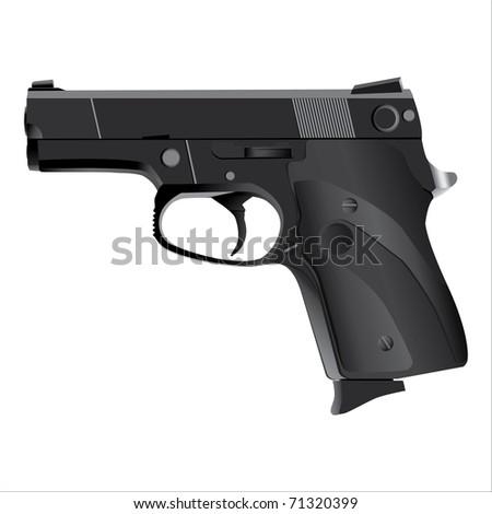 handgun, Pistol vector - stock vector