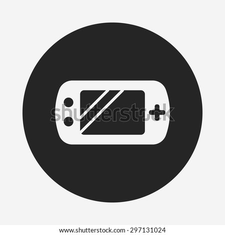Handheld game consoles icon - stock vector