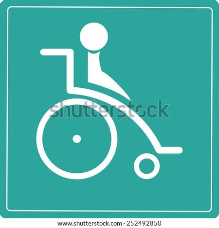 Handicap Sign Icons - stock vector