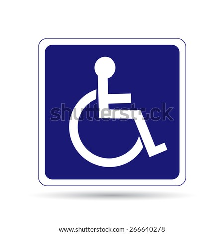 Handicapped person sign - stock vector
