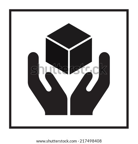 Handle with care sign. Fragile or packaging symbol. Vector illustration. - stock vector