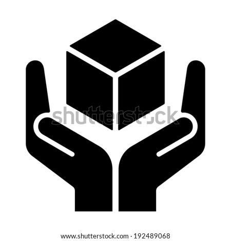 Handle with care sign on white background, vector illustration - stock vector