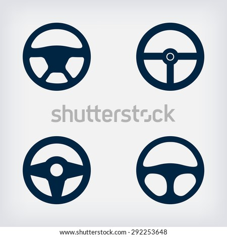 handlebars automotive icons - vector illustration. EPS 10 - stock vector