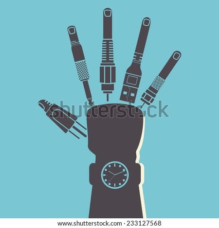 Handling technology, vector illustration - stock vector