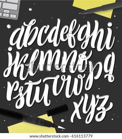 Handmade Alphabet For Your Designs Logo Posters Invitations Cards Etc