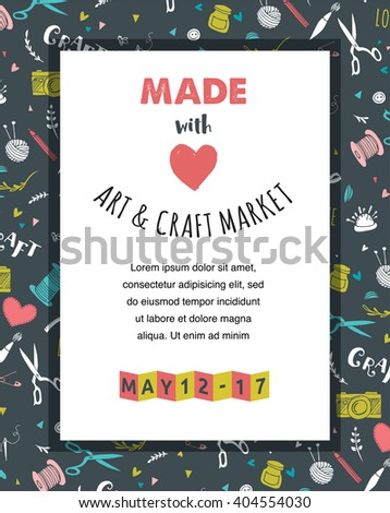 Craft fair stock images royalty free images vectors for Free craft show listings