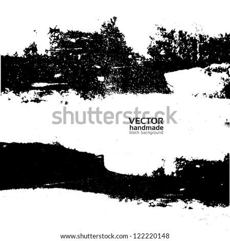 Handmade grunge textute - stock vector