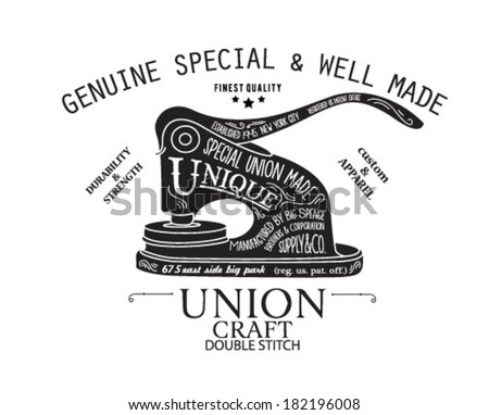 handmade illustration sketch with type 2 - stock vector