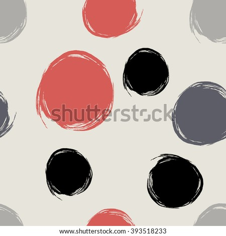 Handmade pattern is made of ink scopes. Can be used for fabric design, paper design, background. Vector. Isolated
