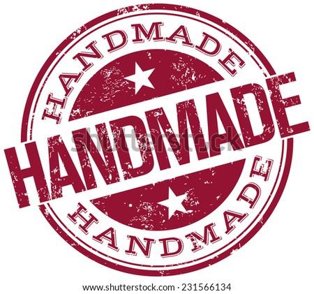 handmade stamp - stock vector