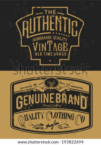 handmade vintage label collection for apparel 2 - stock vector