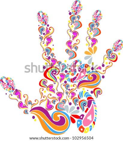 handprint - stock vector