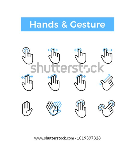 hands and gesture icon