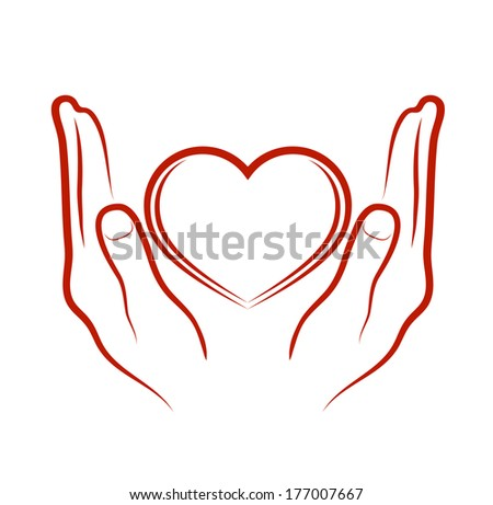 hands bestowing heart