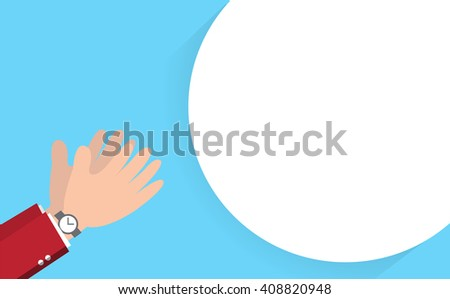 Hands clapping vector background illustration - stock vector