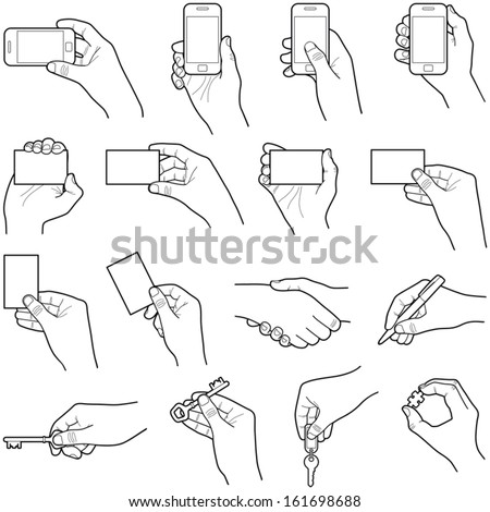 Hands collection - vector illustration