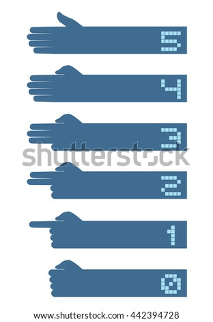 hands counting symbol - stock vector