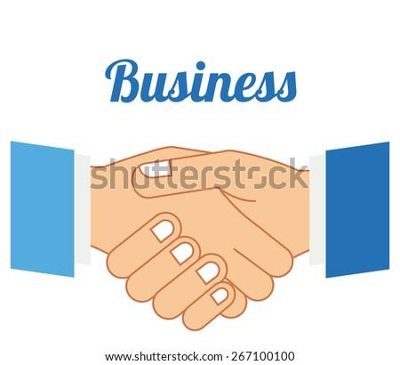 Hands gesture design over white background, vector illustration - stock vector