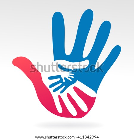 hands help illustration background - stock vector