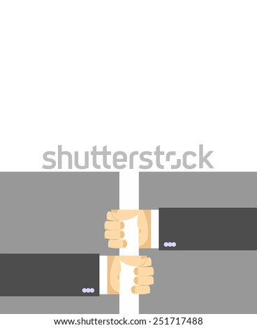 hands holding a sign. - stock vector