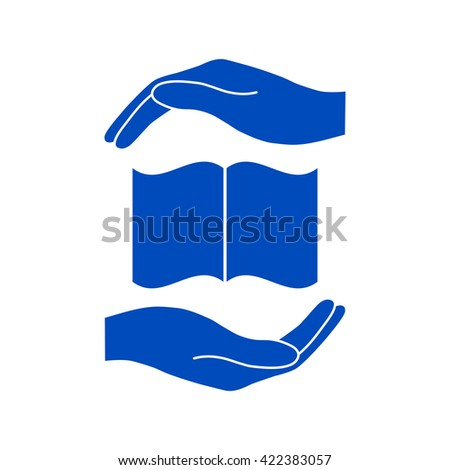 Hands holding book- protection symbol.