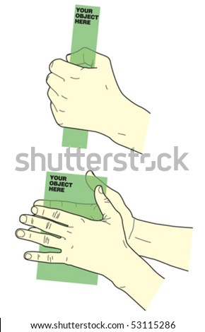 Hands Holding Objects 4 - stock vector