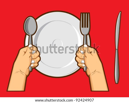 Hand Holding Fork Drawing Hands Holding Spoon Fork