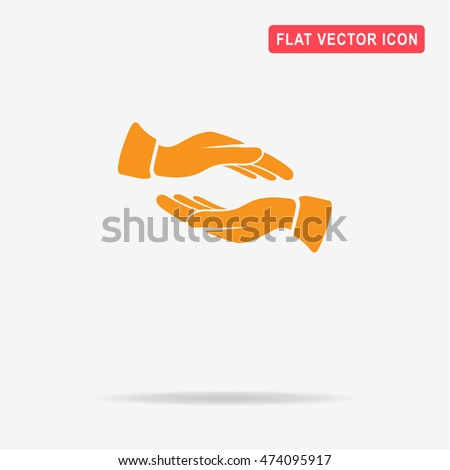 Hands icon. Vector concept illustration for design.
