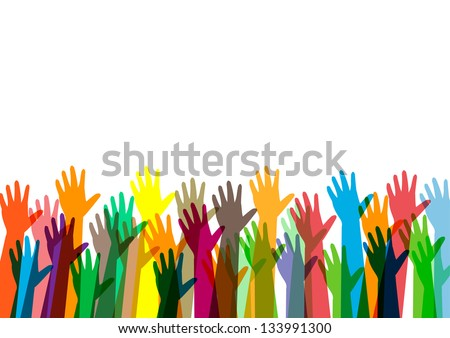 hands of money vector illustration - stock vector