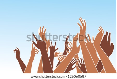 hands up vector graphic