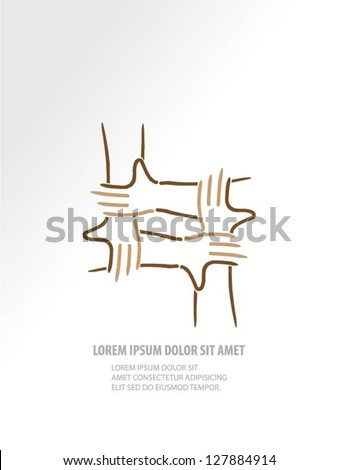 Hands vector design - stock vector