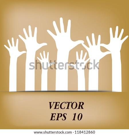 Hands volunteer Vector eps10 - stock vector
