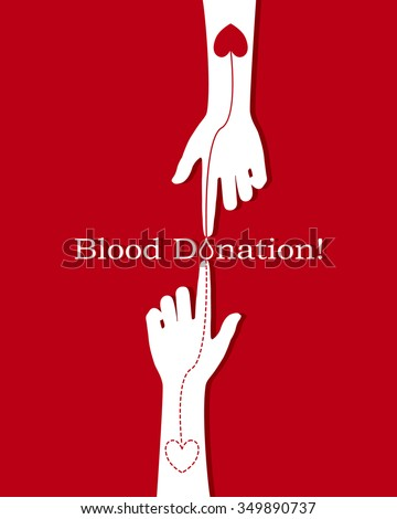 Blood Donation Coloring Pages. Hands with heart shape on red background illustration Blood Donation Stock Images  Royalty Free Vectors