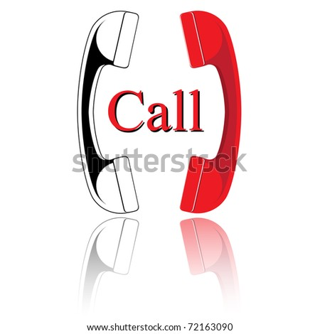 Handset. Vector illustration. - stock vector