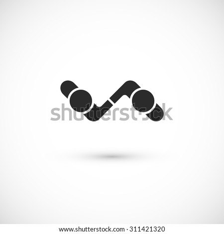Handshake abstract logo vector design template, business creative concept, cooperation symbol icon, corporate financial sign - stock vector
